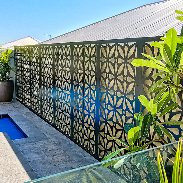 Décor panels can transform courtyards.